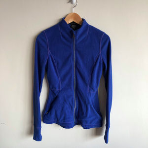 Lord & Taylor Blue Fleece Zip Up Athletic Sweater